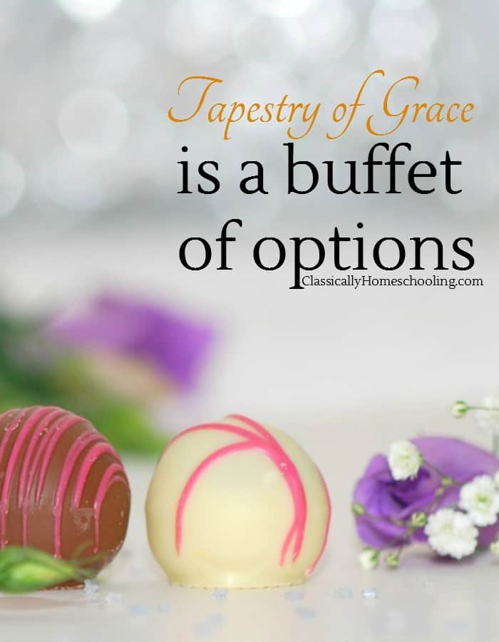 Tapestry of Grace offers many wonderful options allowing you to adapt to changing needs.