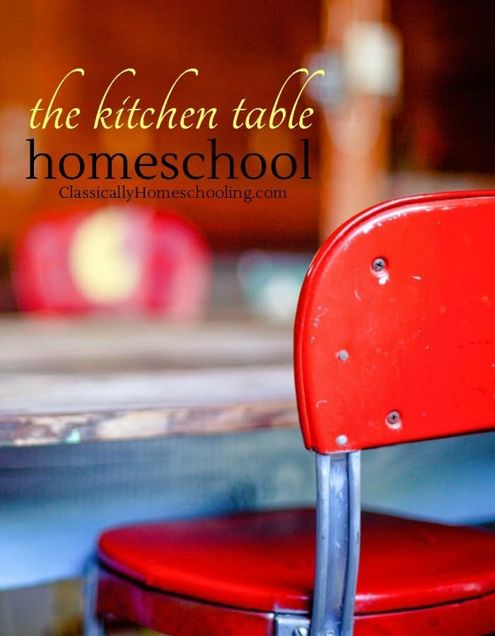 Do you have a kitchen table homeschool?