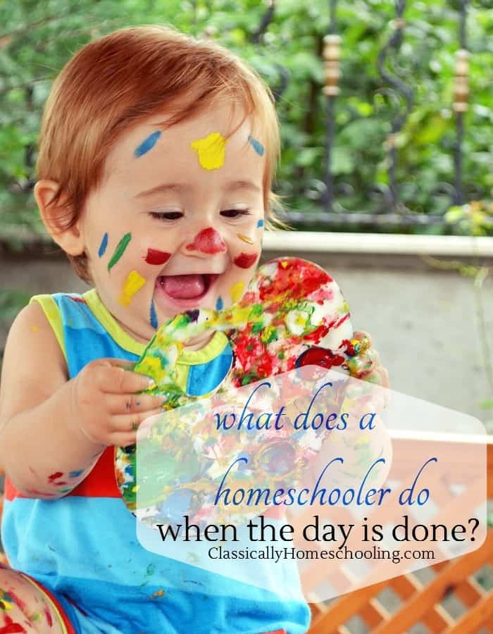 What does a homeschooler do after the day is done?