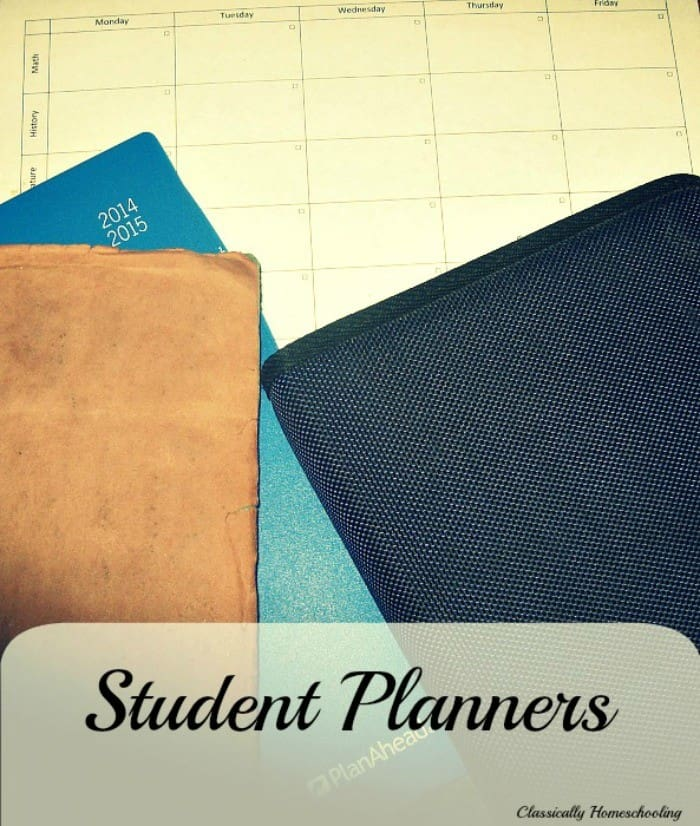 Each of my older children use a different style of student planner to plan their week. I simply assign the work for the week, and they figure out how they want to complete it.