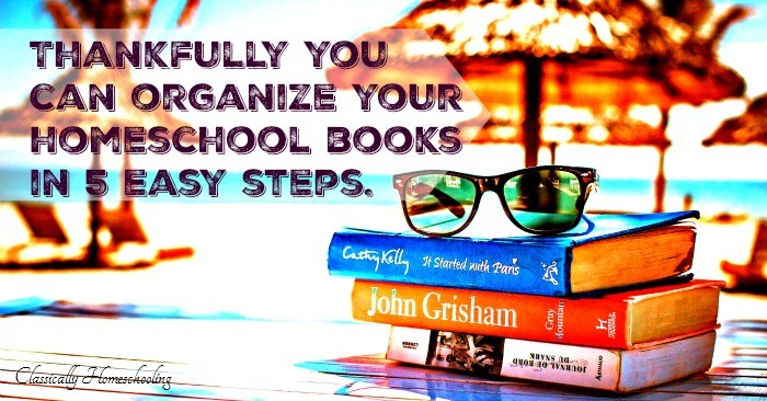 organize your homeschool books fb