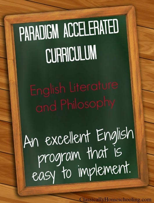 At  times, we need an English program that is easy to implement. Paradigm Accelerated Curriculum offers an excellent program with digital and print options.