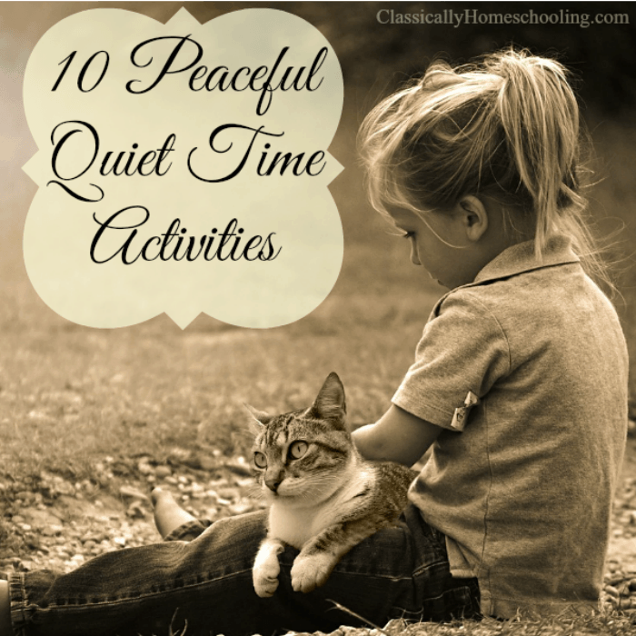 Some children easily find quiet activities to occupy themselves during quiet time. Others need help to find things to do. Here are some ideas to give your children during quiet time.