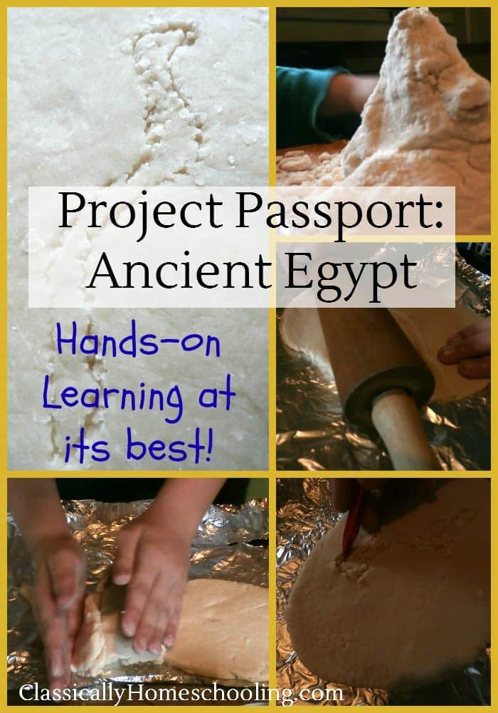 Project Passport: Ancient Egypt by Home School in the Woods brings wonderful hands-on learning projects to children's study of ancient Egypt
