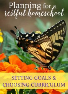 planning a restful homeschool part one