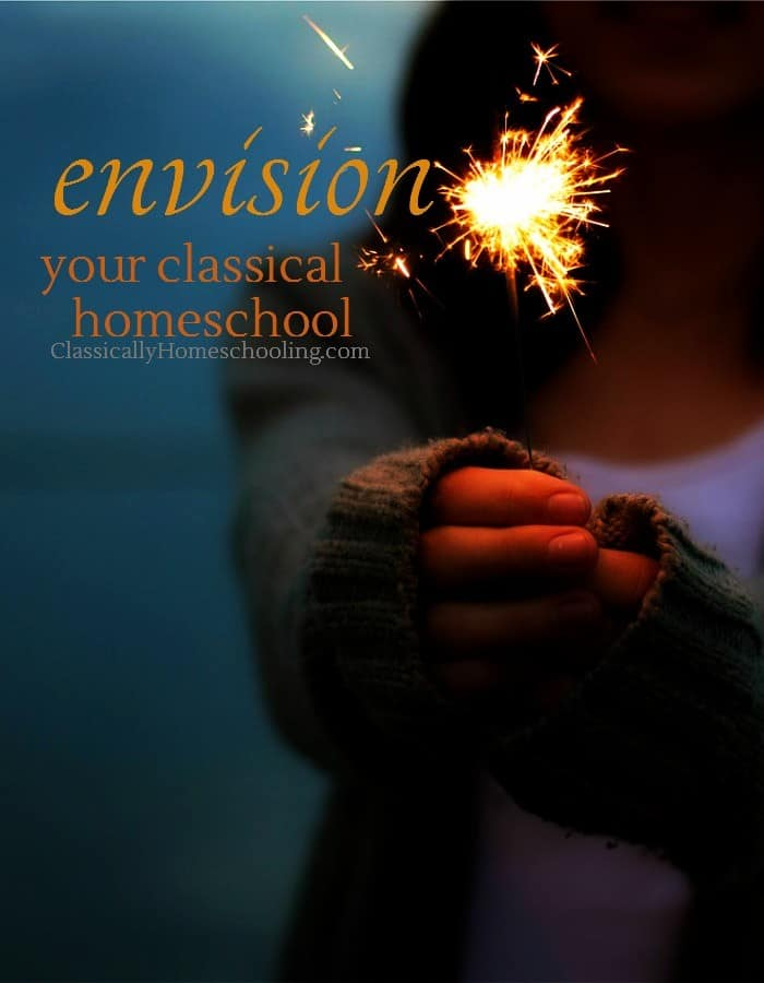 Think about what your dream classical homeschool will look like while you adjust to your new schedule