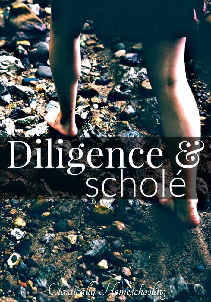 Diligence and schole go hand in hand.