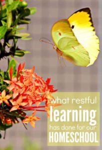 restful learning homeschool