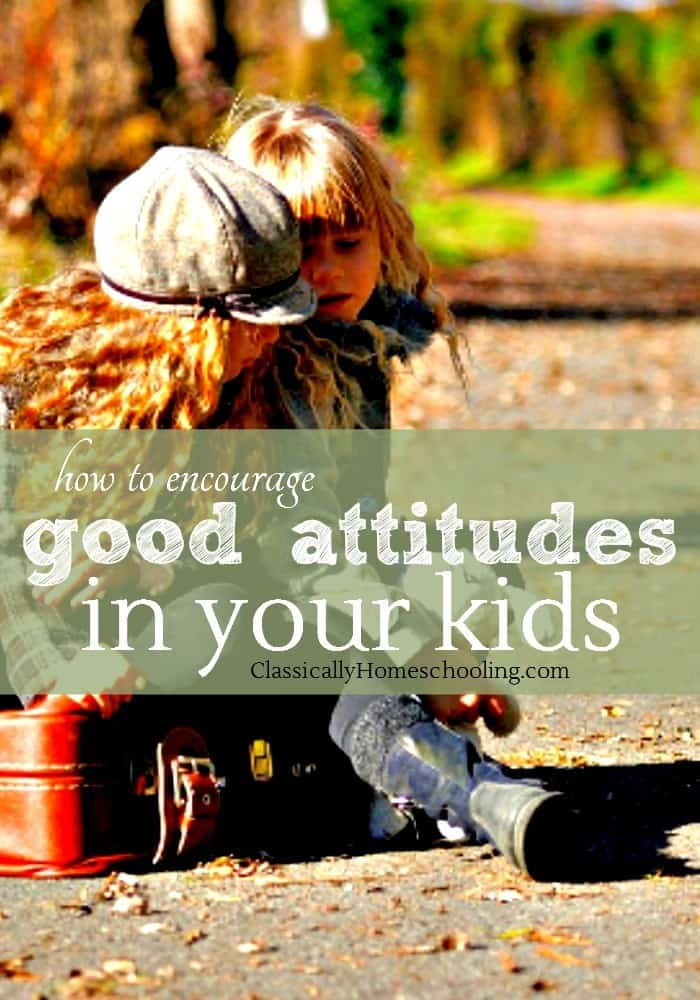 Kids don't always have the best attitude towards homeschooling. However there are a few simple techniques to encourage good attitudes in our kids.