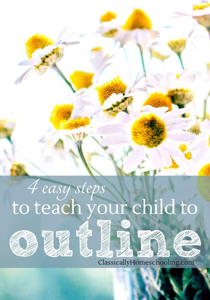 Kids need to know how to outline. Great! So just how do we teach our children how to outline?