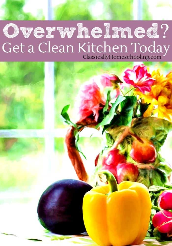 A clean kitchen is the secret to getting life back under control. Here's how to get your kitchen clean today!