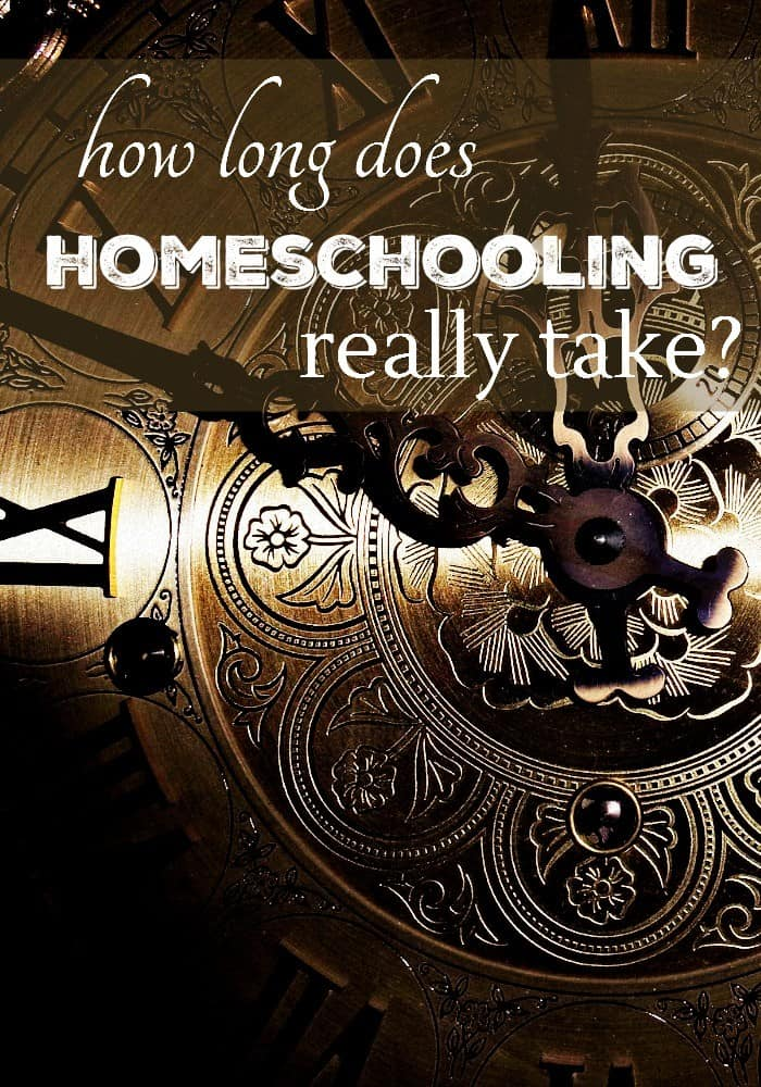 It's amazing how many people believe homeschooling needs to take all day. After all the public school kids are in school from 9 to 3. However homeschooling isn't the same as teaching a classroom of kids. I always think of it as tutoring my children, which doesn't take long at all.