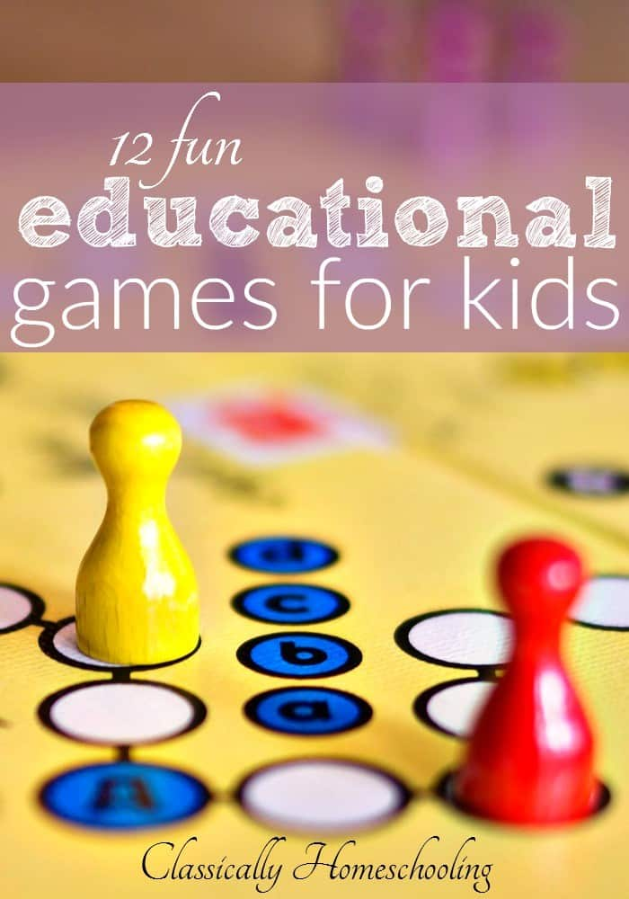 Are you looking for some fun educational games for your kids? Games which will keep them busy without watching endless amounts of TV or playing on the computer all day.