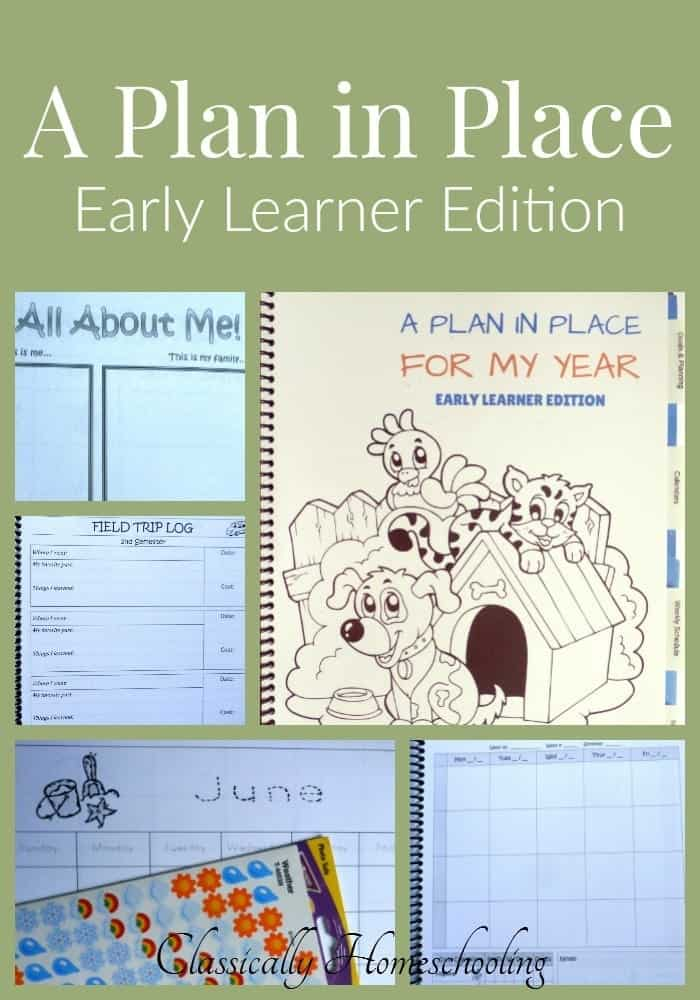 A Plan in Place is a customized Early Learner Planner created just for preschoolers. Personalize it for your needs and have the perfect planner!