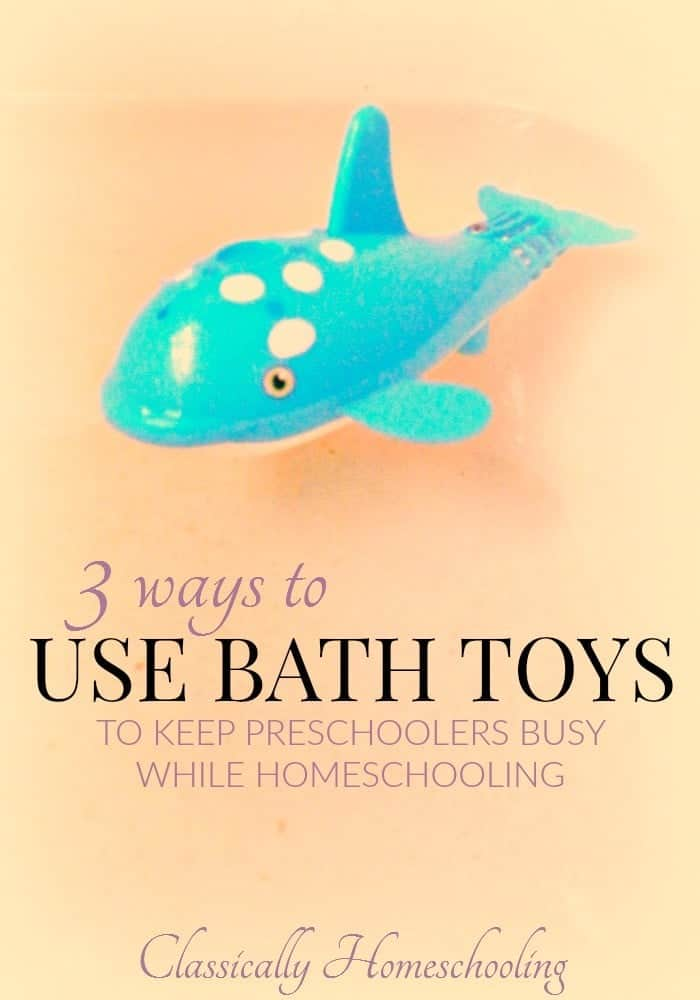 Keep preschoolers busy while homeschooling with bath toys