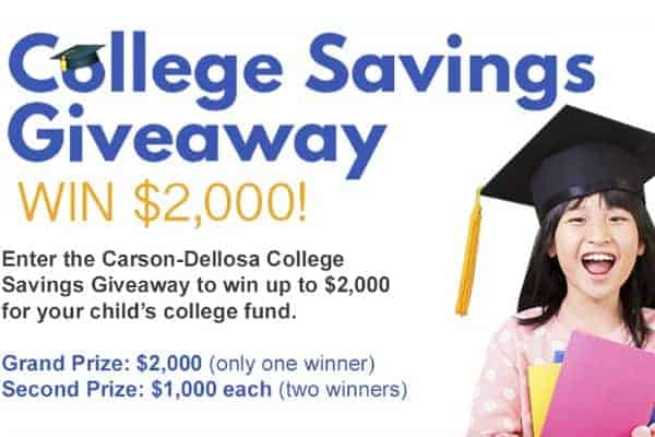 Carson Dellosa College Savings Giveaway
