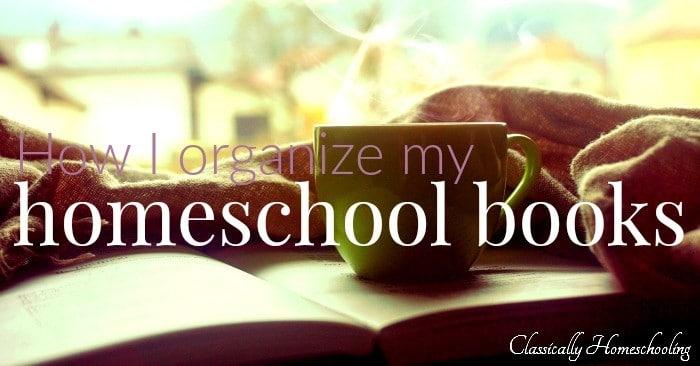 organize my homeschool books fb