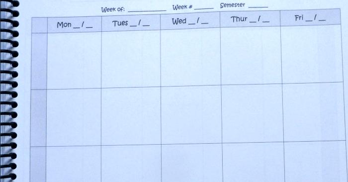 weekly plan long