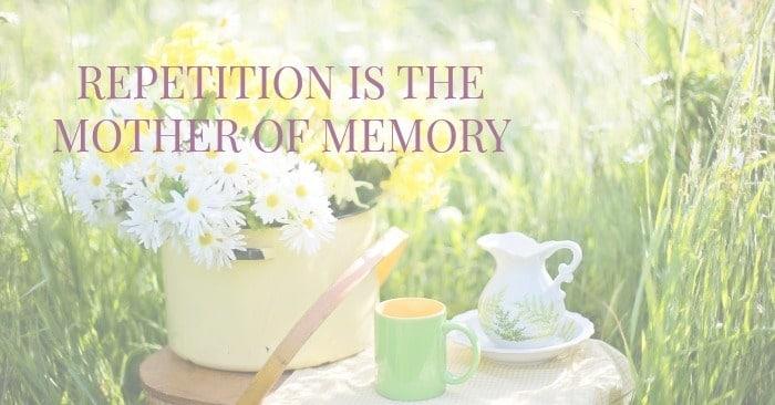 Repetitio Mater Memoriae