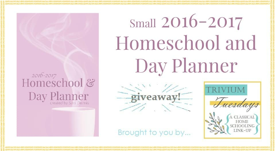 Homeschool and Day Planner smGiveaway