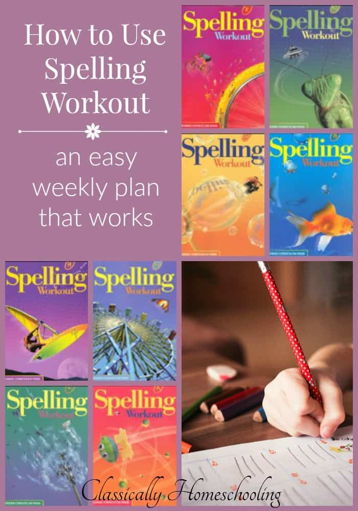 Are you looking for an easy spelling program that works? Try Spelling Workout and use this easy weekly plan!