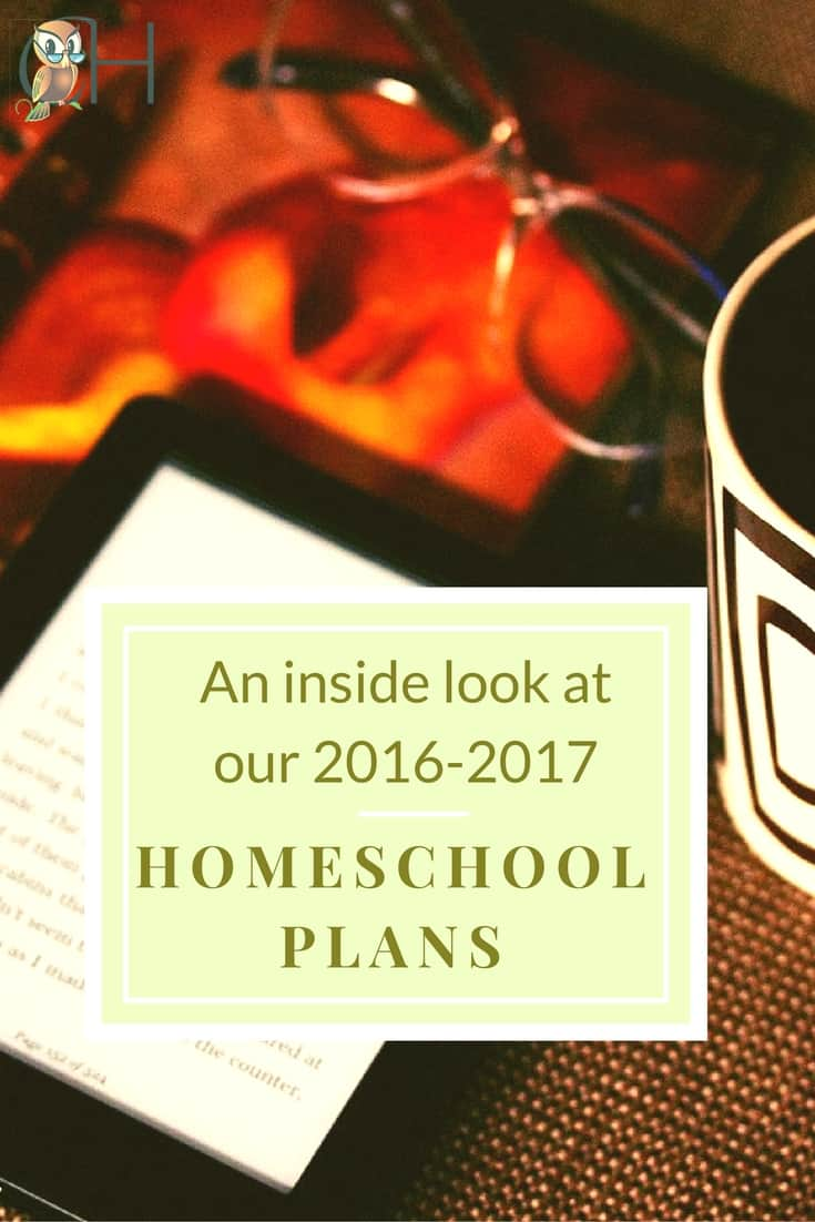 A detailed look at my homeschool plans for the 2016-2017 school year. Not only does it include what curriculum I'm using, but how I organize my homeschool to teach K, 1st, 8th, and 11th graders.