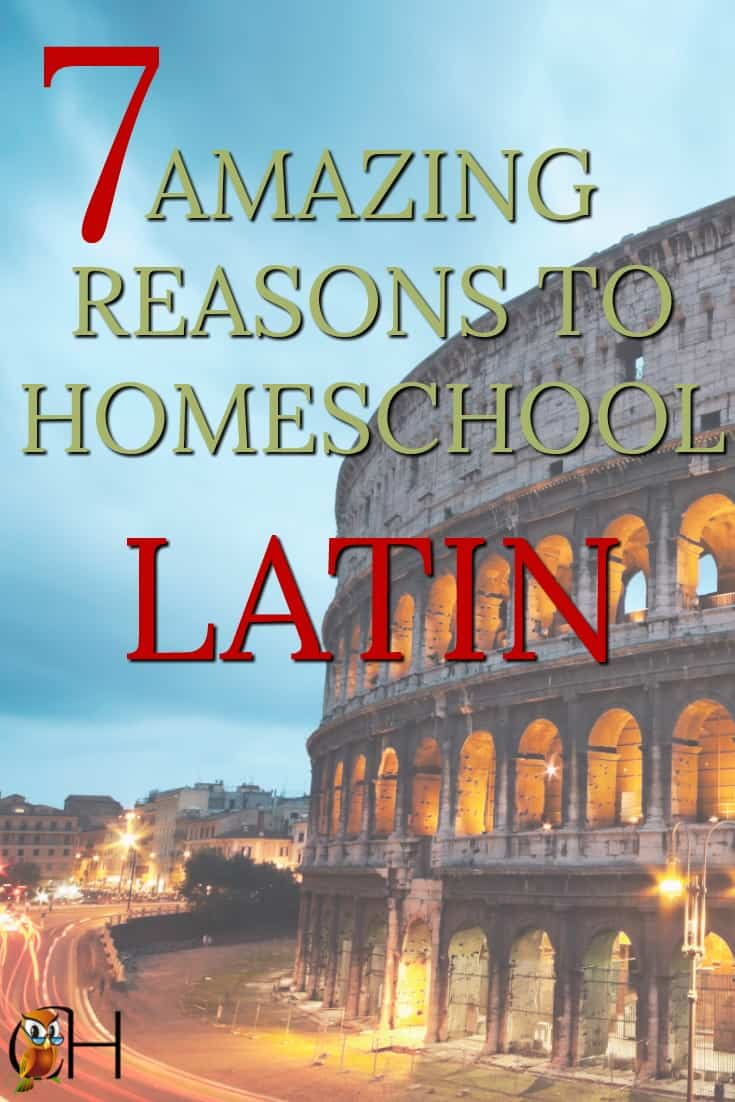 Why do so many homeschoolers teach Latin? After all, Latin is a dead language. Actually there are seven amazing reasons why you should homeschool Latin.