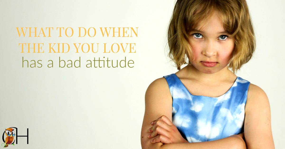 "Ever have a kid stomping around the house in a nasty mood? ""Breakfast is horrid. Suzy's sitting in my spot. I hate math!"" So what do you do with a bad attitude? Click to find out!"