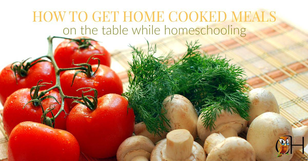 Serve a home cooked meal every night while homeschooling with these easy steps!