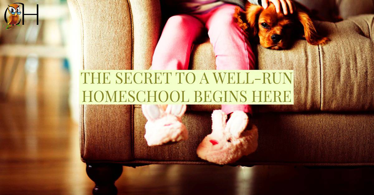 The secret to your well-run homeschool isn't in the curriculum, books, or even in the perfect homeschool room. It's much simpler, yet harder, issue to solve. Learn more by reading the post!