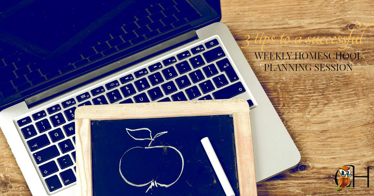 Have a successful weekly homeschool planning session with these 3 awesome tips! Click to learn more.