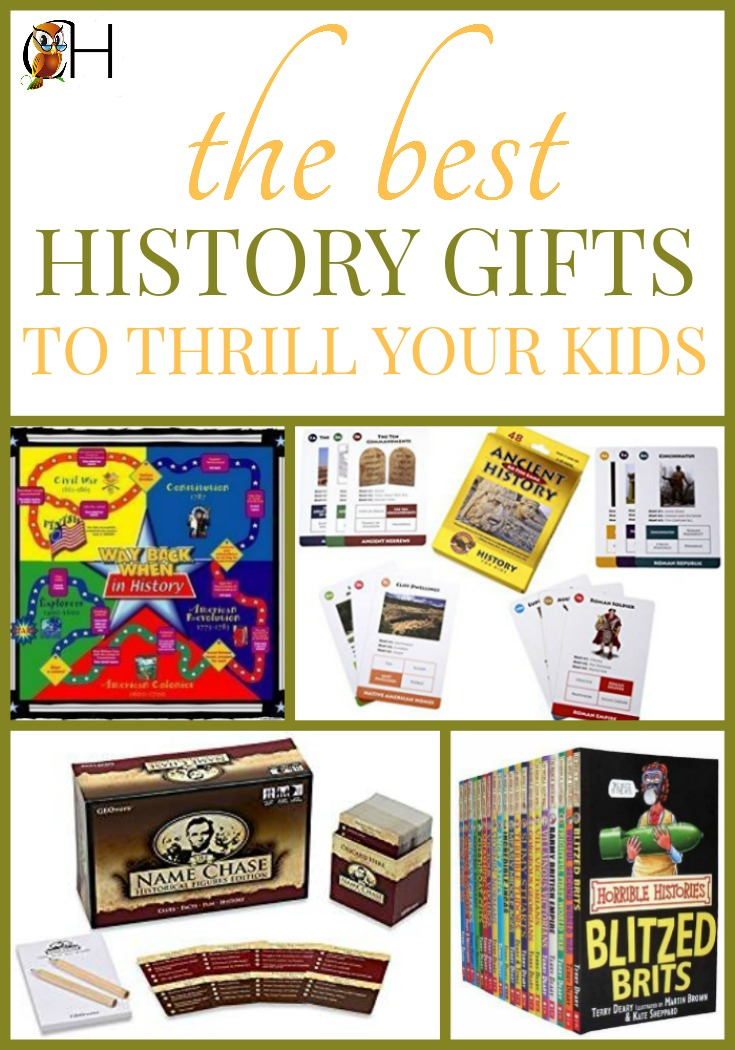 If you have a kid who loves history, give history gifts for Christmas. Your child will be thrilled showing off all the facts they know.