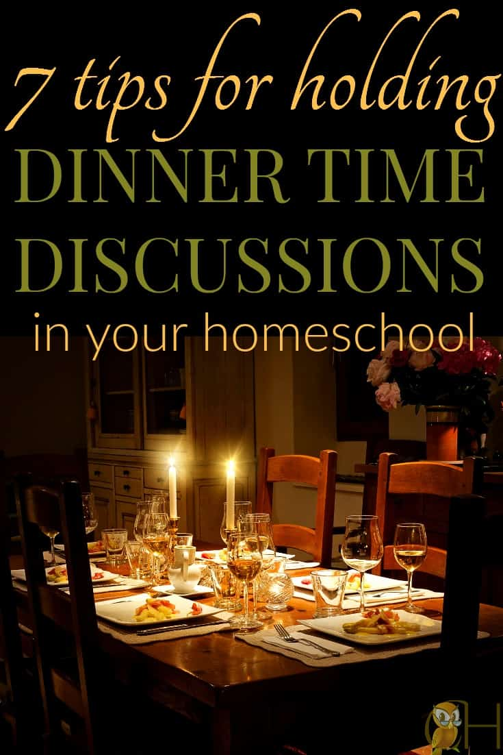 It's hard to get discussions done. Instead of adjusting your daily schedule, hold dinner time discussions with your entire family!