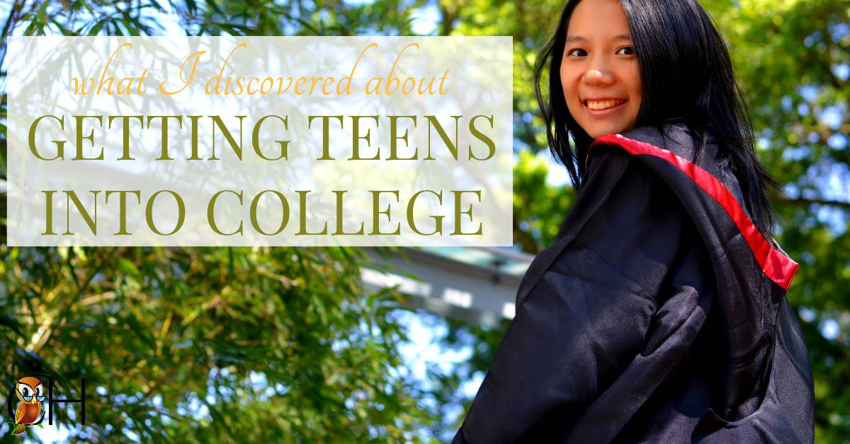 Here are 5 things I learned about getting teens into college after you've graduated your teenager from your homeschool!