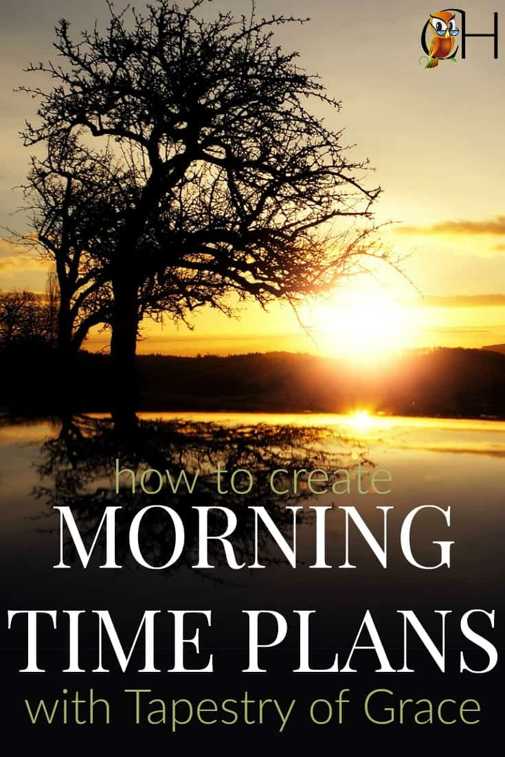 Are you using Tapestry of Grace and want a rich and satisfying morning time with your kids? Learn how to create morning time plans with Tapestry of Grace!