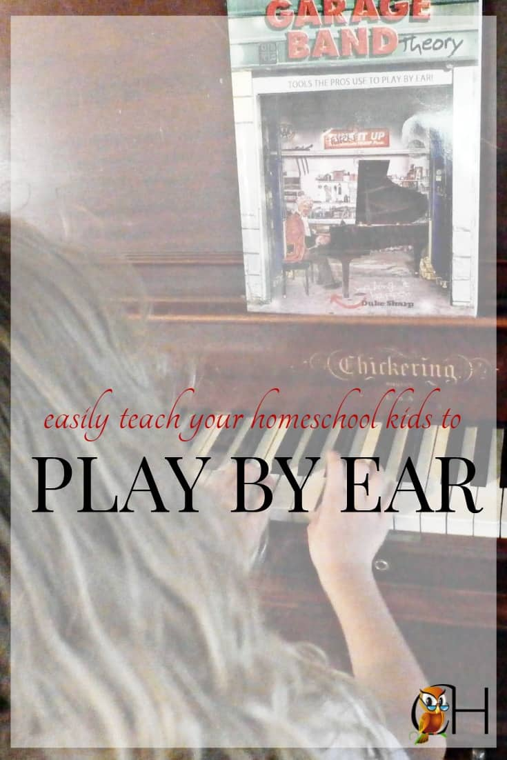 Are you looking for a way to teach your homeschool kids how to play by ear? Check out Garage Band Theory! This one books teaches everything you need to know.