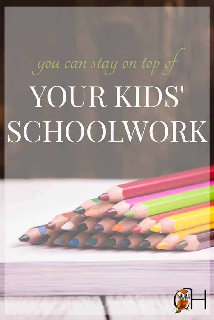 Have you noticed how kids' schoolwork takes over the house? It's enough to drive you batty! You need a good system to stay on top of your kids' schoolwork.