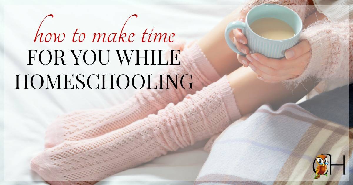 Homeschooling without a break is like swimming the Atlantic without a boat. Eventually you're going to drown. You must make time for you while homeschooling.