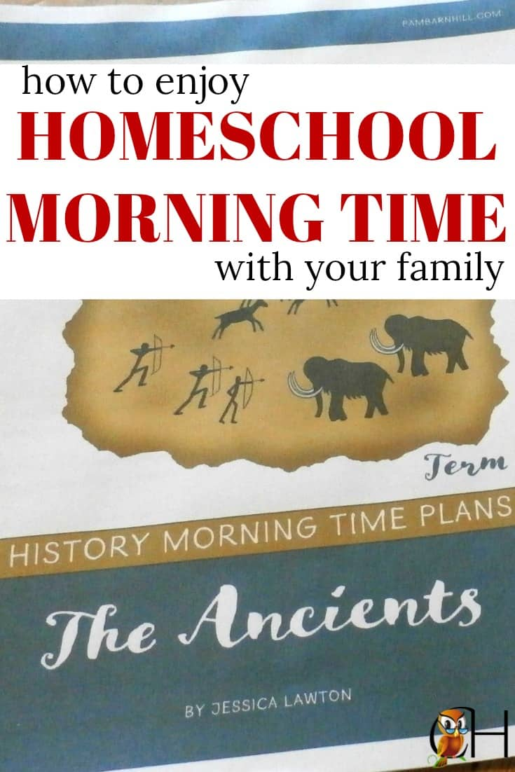 inside: how to enjoy a beautiful homeschool morning time with your family without going crazy