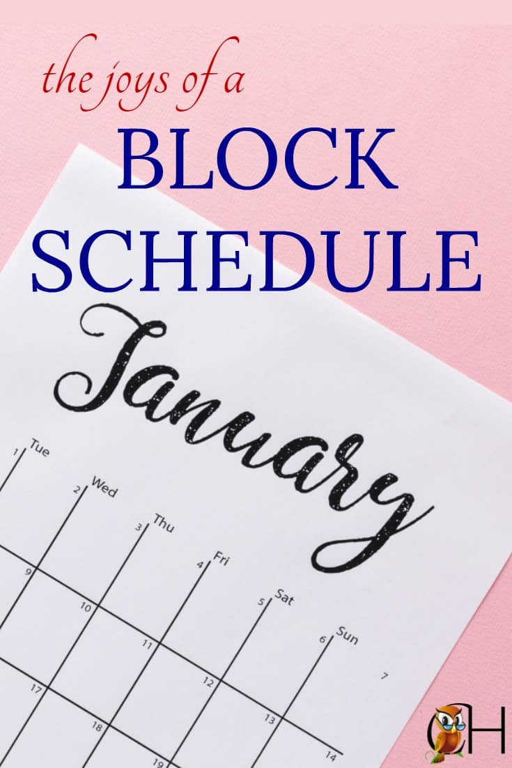 A block schedule will bring you homeschool sanity!