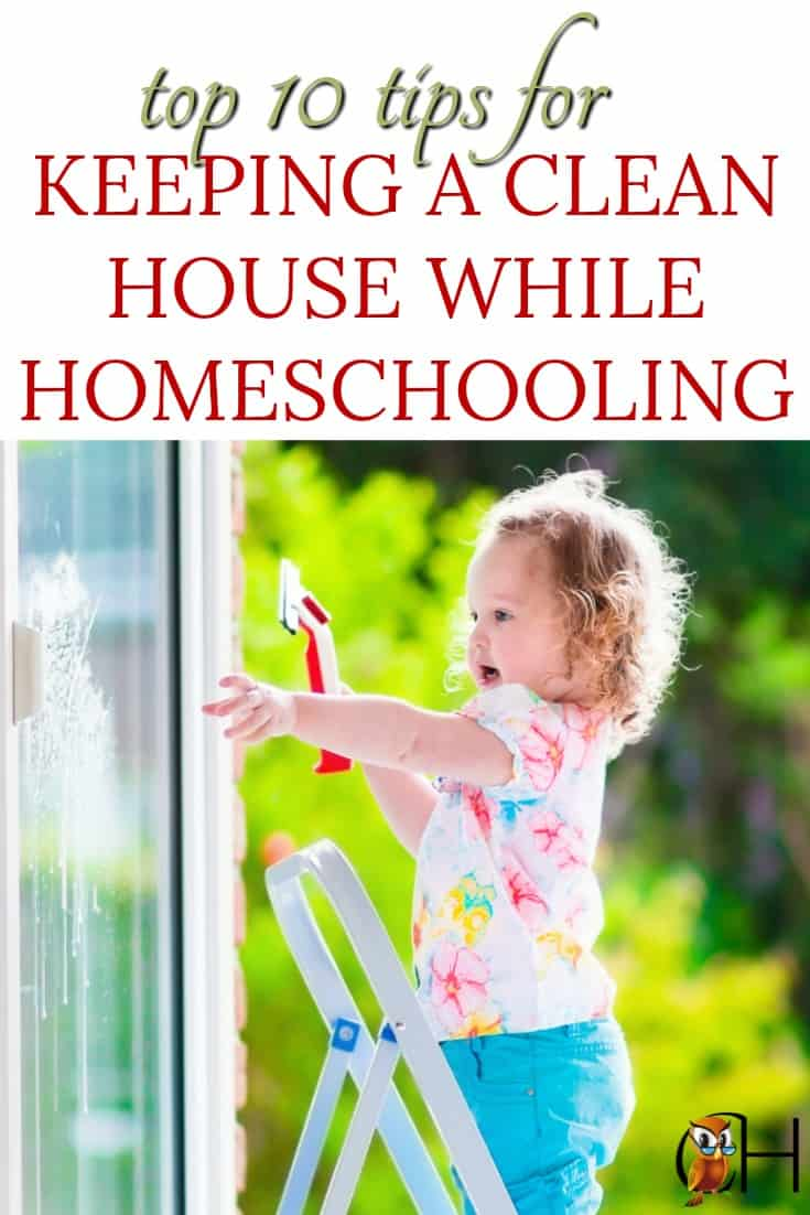 Ten awesome tips to keep a clean house while homeschooling!
