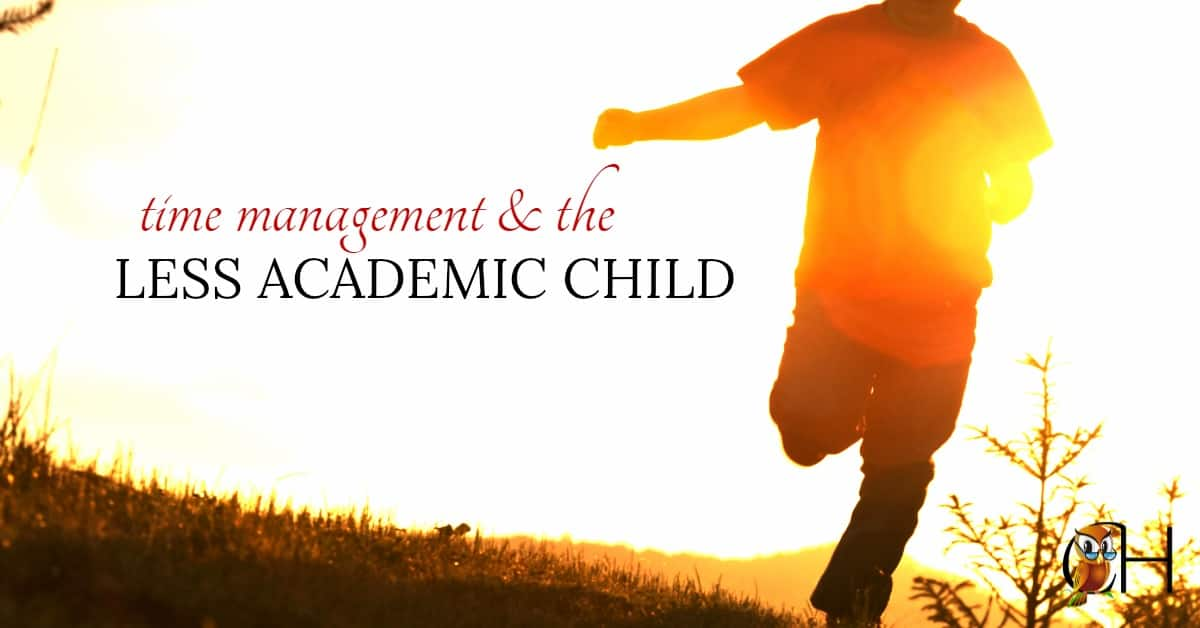 Time management is an issue with our less academic children.  They're convinced life has more important things to offer than sitting down and studying.