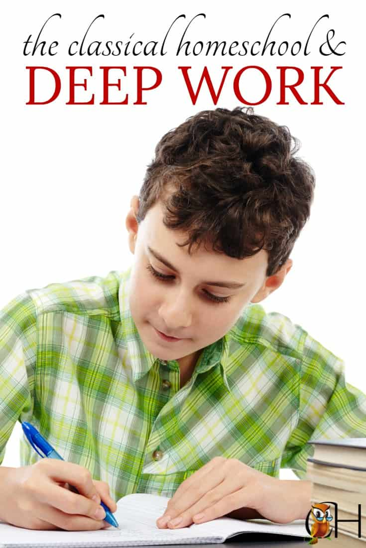 I challenge to grab a copy of Deep Work this week. Read it. And remember that classical education trains children to produce deep work.