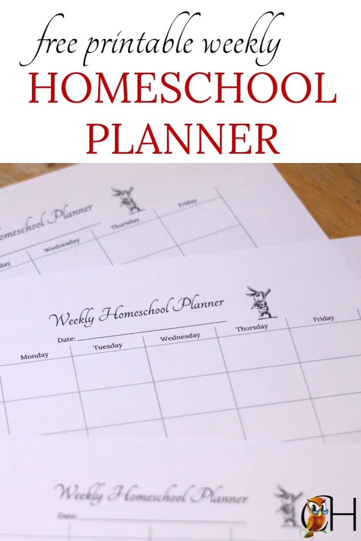 image relating to Free Printable Homeschool Planner called Absolutely free Printable Weekly Homeschool Planner Clically