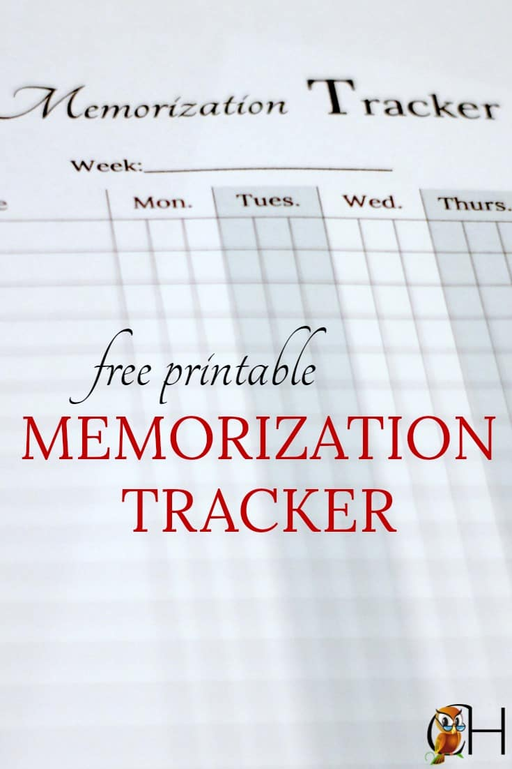 If you've been struggling to keep track of your children's memory work, you need this free printable memorization tracker!