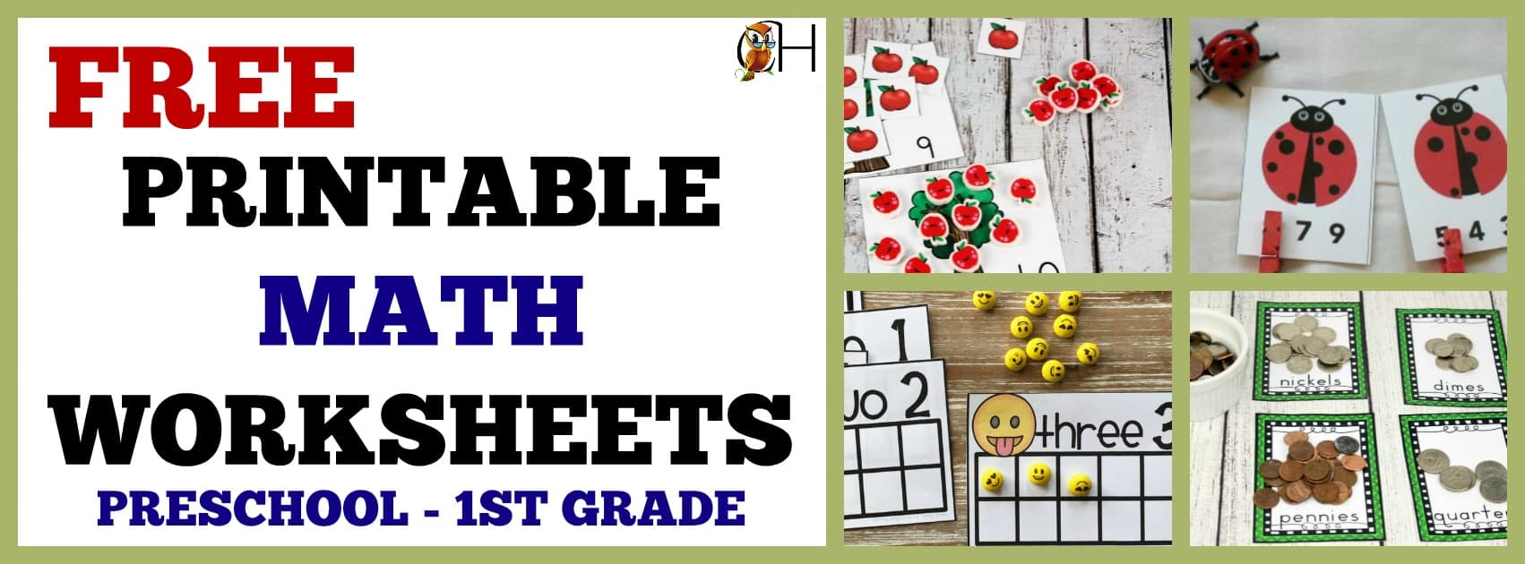 Free Printable Math Worksheets for Preschool - 1st Grade ...