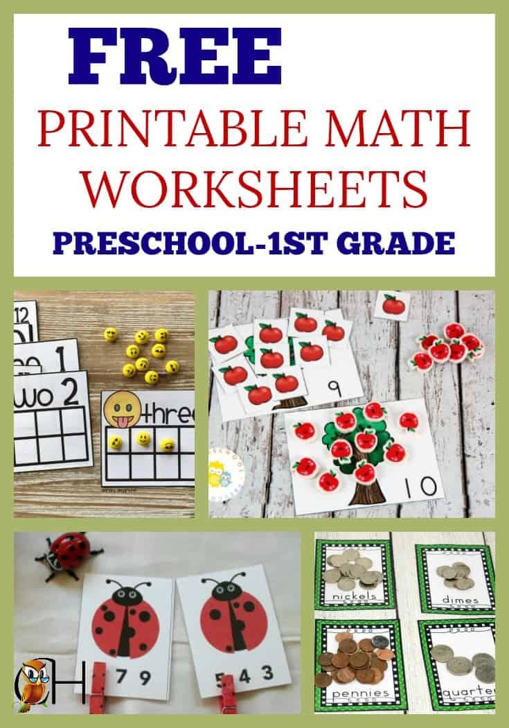 Free Printable Math Worksheets for Preschool - 1st Grade ...