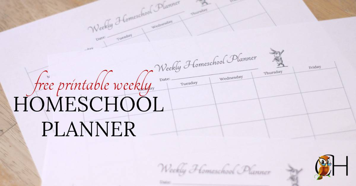 photograph regarding Printable Homeschool Planners identified as Cost-free Printable Weekly Homeschool Planner Clically