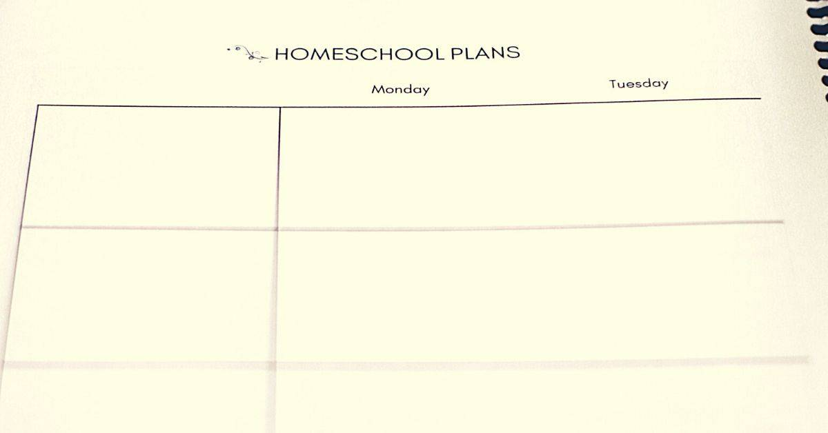 Homeschool and daily planner
