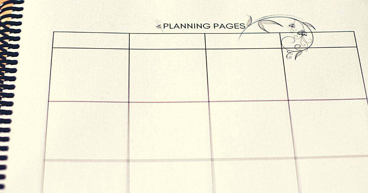 The planning pages for Homeschool & Day Planner